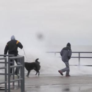 Dennis, Angie and Mike experience Hurricane Sandy's Chicago effects